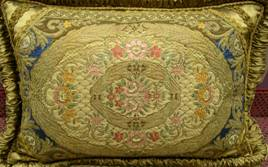 19th century brocade piece for cushion cover